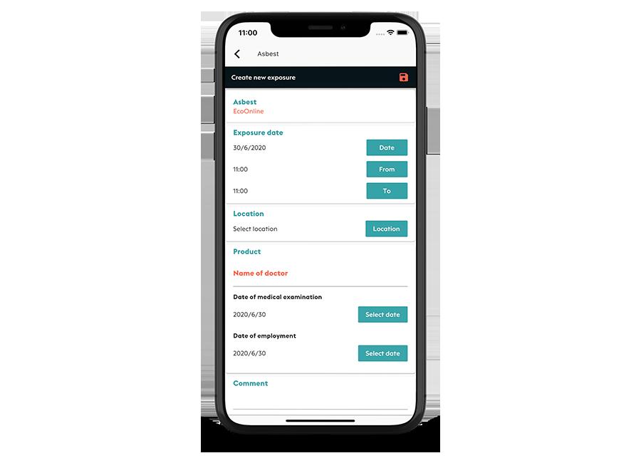 Med Chemical Manager appen er det enkelt og tidsbesparende for de ansatte å registrere sine egne eksponeringer fortløpende